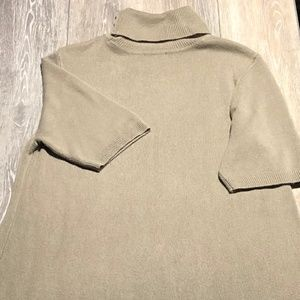 Apt. 9 tan with ruffle bottom dress size S